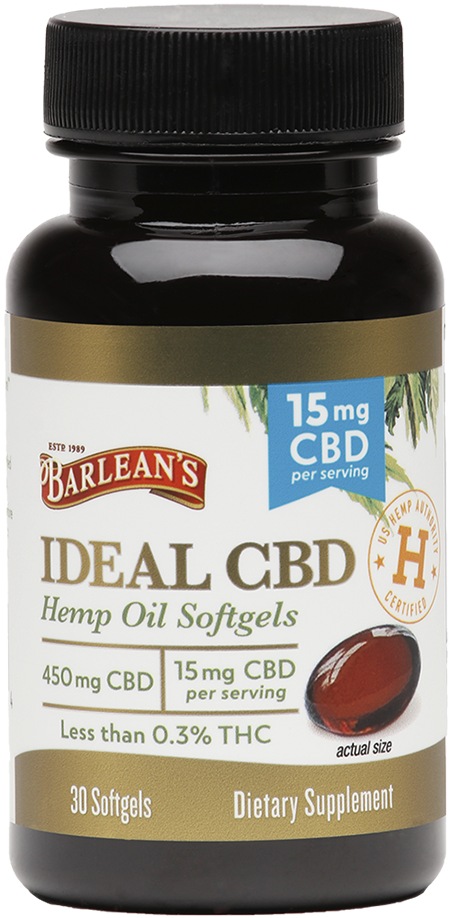 Ideal CBD Hemp Oil Softgels 15mg 30CT