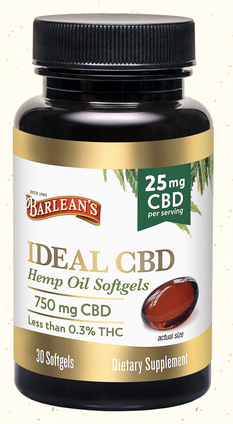 Ideal CBD Hemp Oil Softgels 25mg 30ct