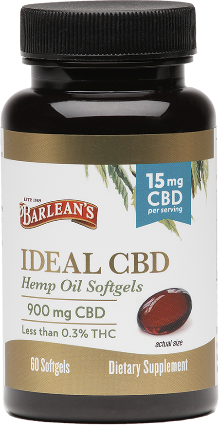 Ideal CBD Hemp Oil Softgels 15mg 60 ct