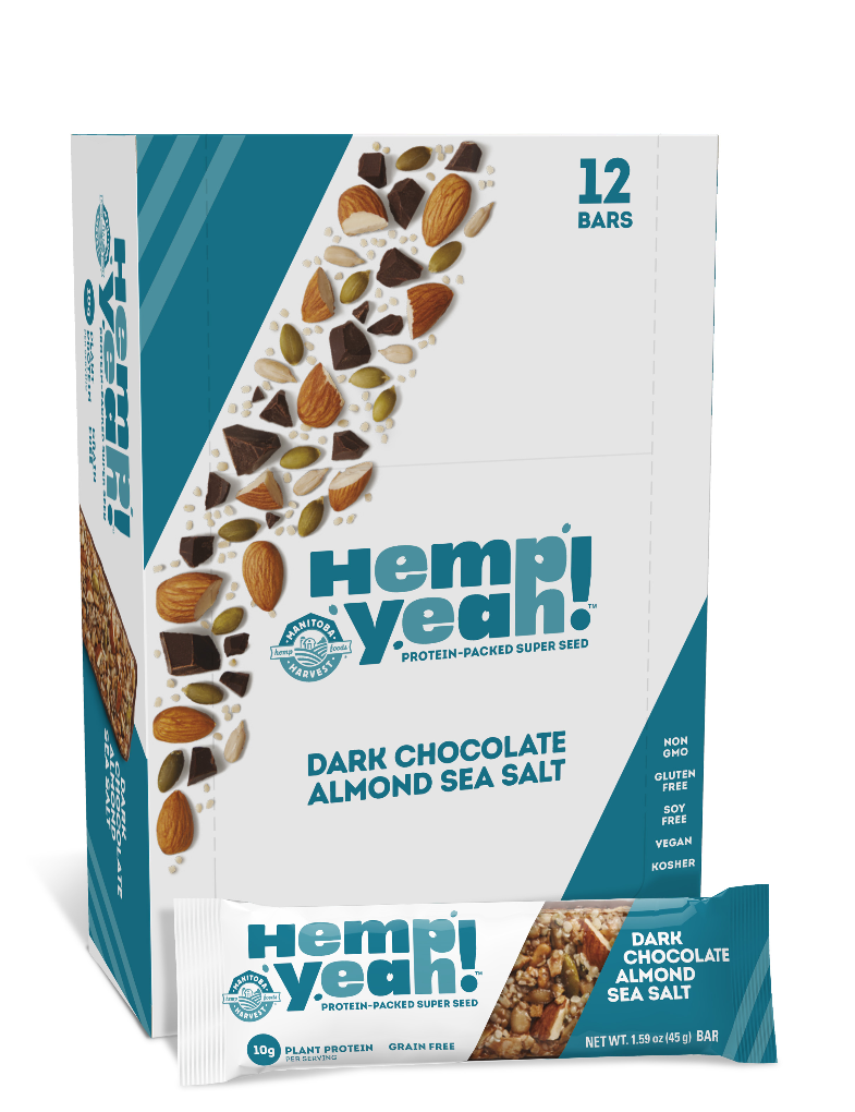 Hemp Yeah! Bar Dark Chocolate Almond Sea Salt