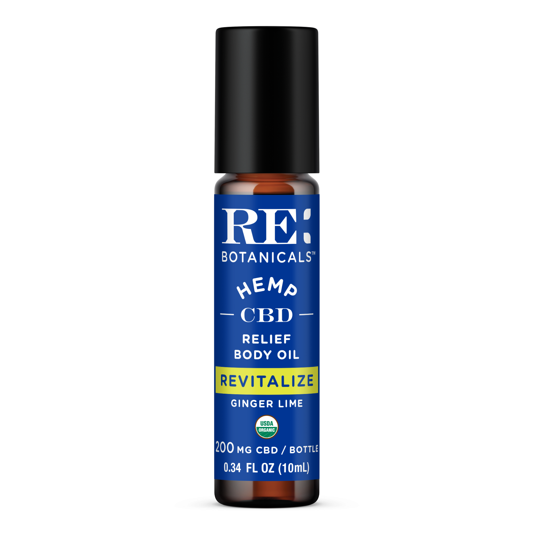 RE Botanicals: Revitalize - Ginger Lime Relief Body Oil (200mg)
