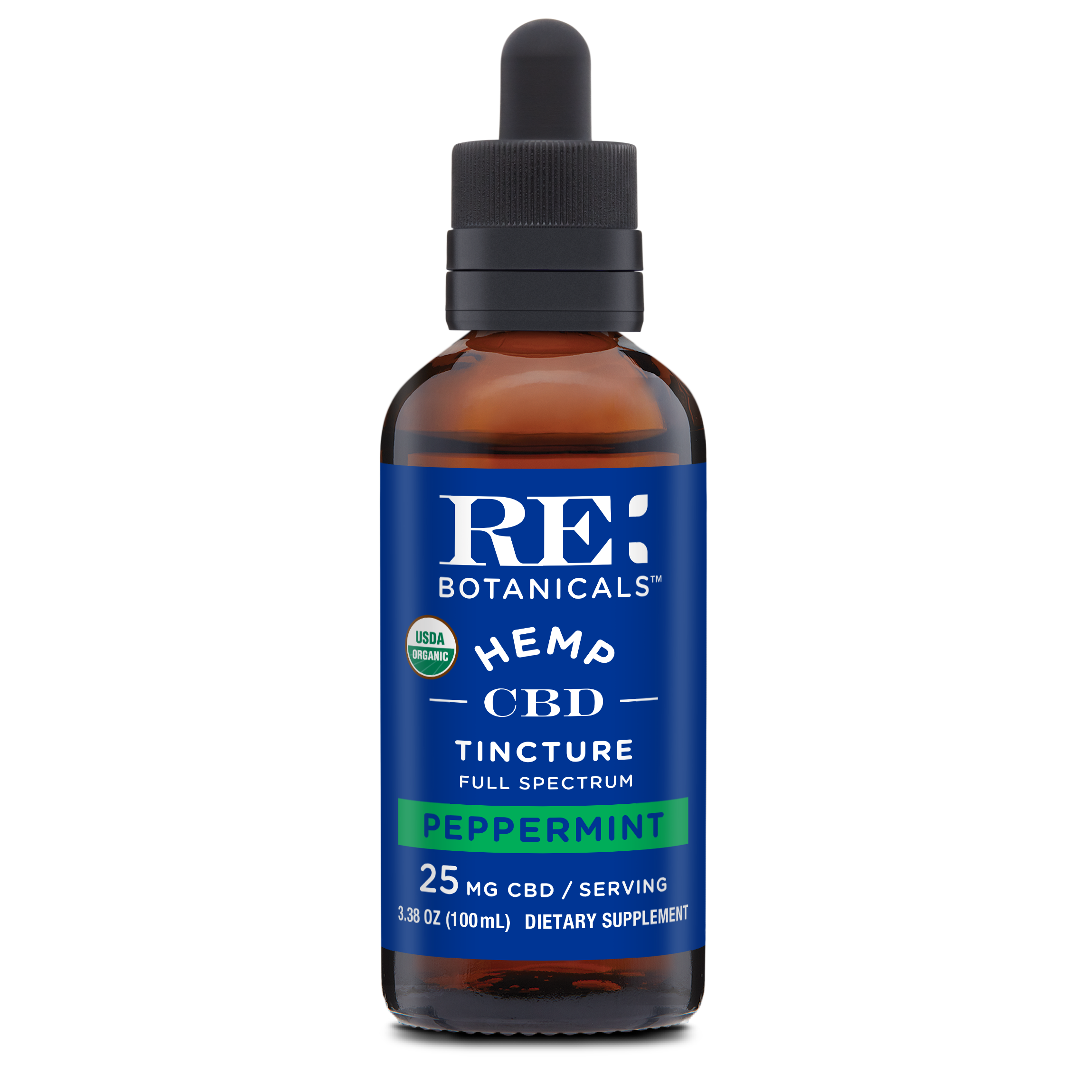 RE Botanicals: Hemp 25 Peppermint (100mL)