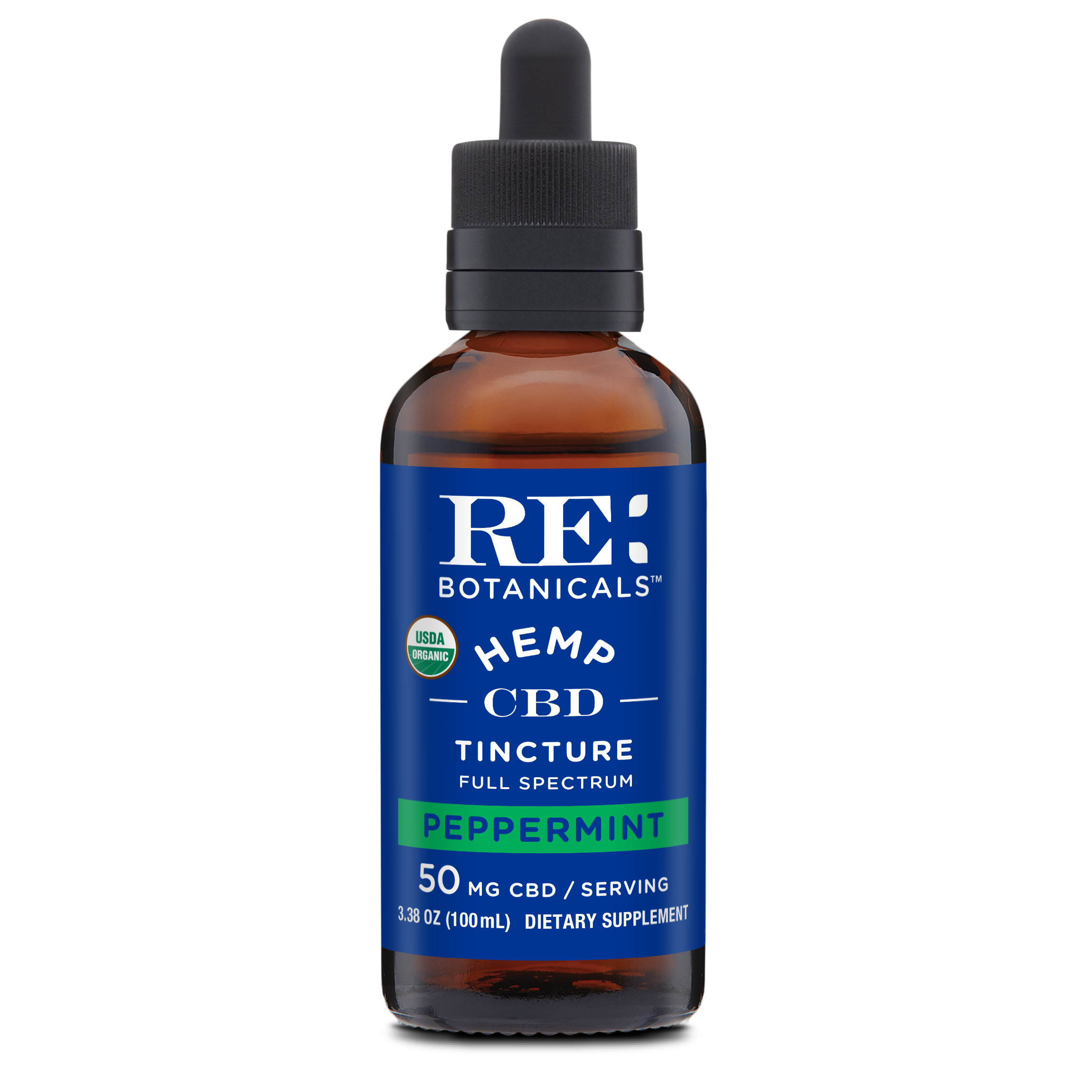 RE Botanicals: Hemp 50 Peppermint (100mL)