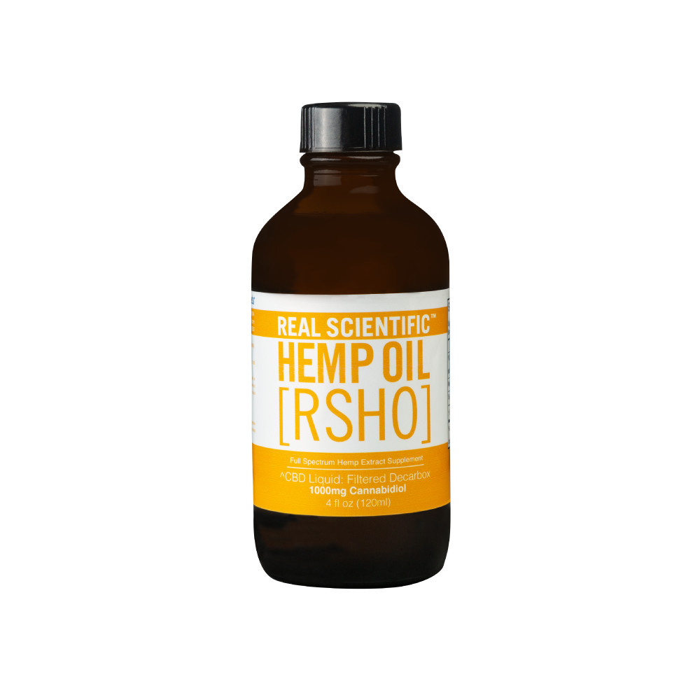 Real Scientific Hemp Oil Gold Label Liquid (4oz. - 1000mg CBD)