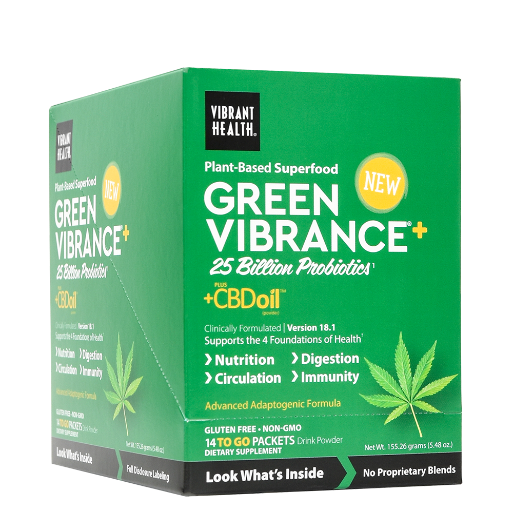 Green Vibrance +CBD To Go Packets