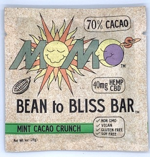 MOMO's Bean to BLISS Bar- Mint Cacao Crunch