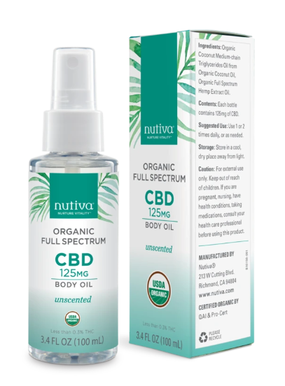 Organic Full Spectrum CBD Body Oil