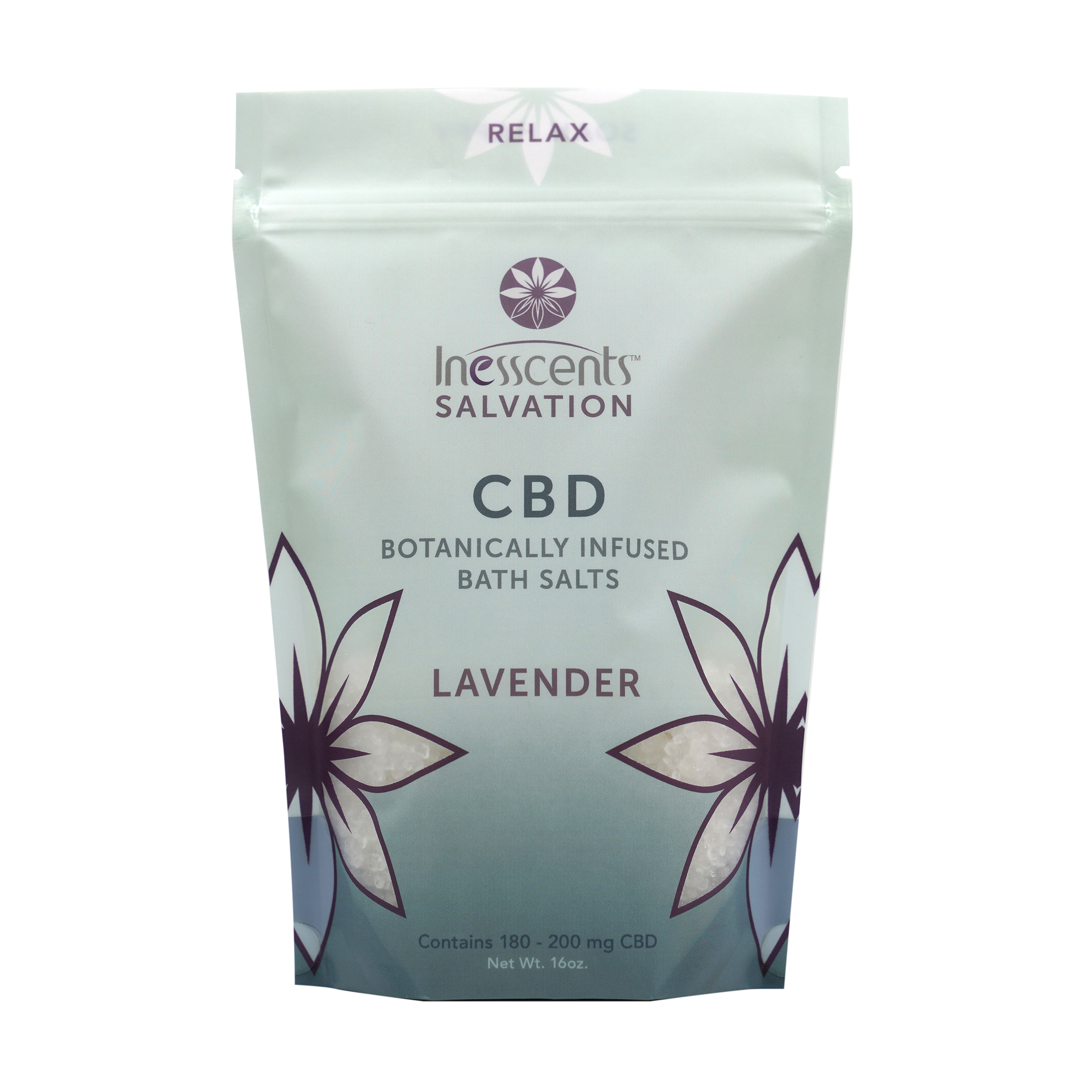 CBD Botanically Infused Bath Salts - Lavender 16oz