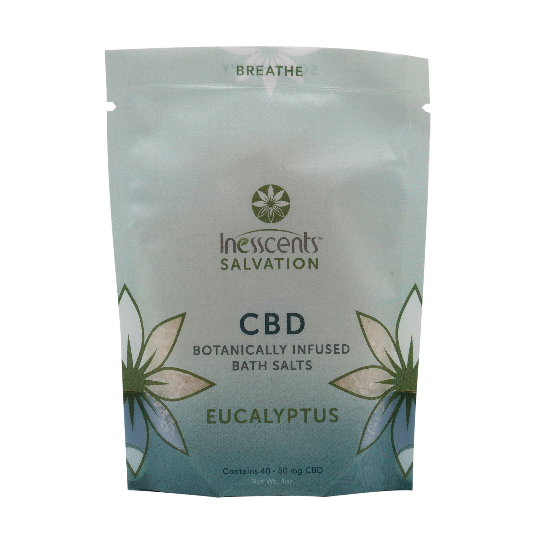 CBD Botanically Infused Bath Salts - Eucalyptus 4oz