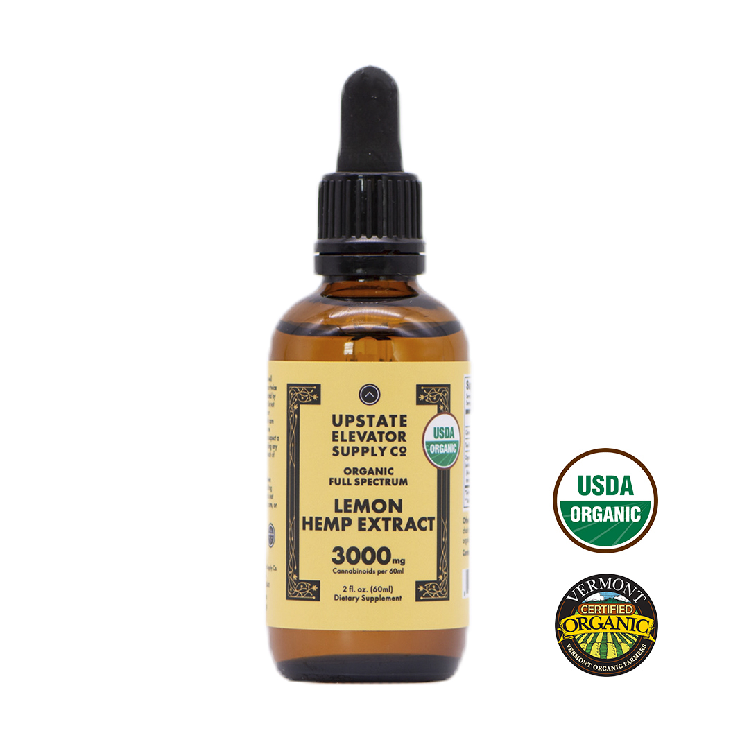 Organic Lemon Hemp Extract, 3000mg