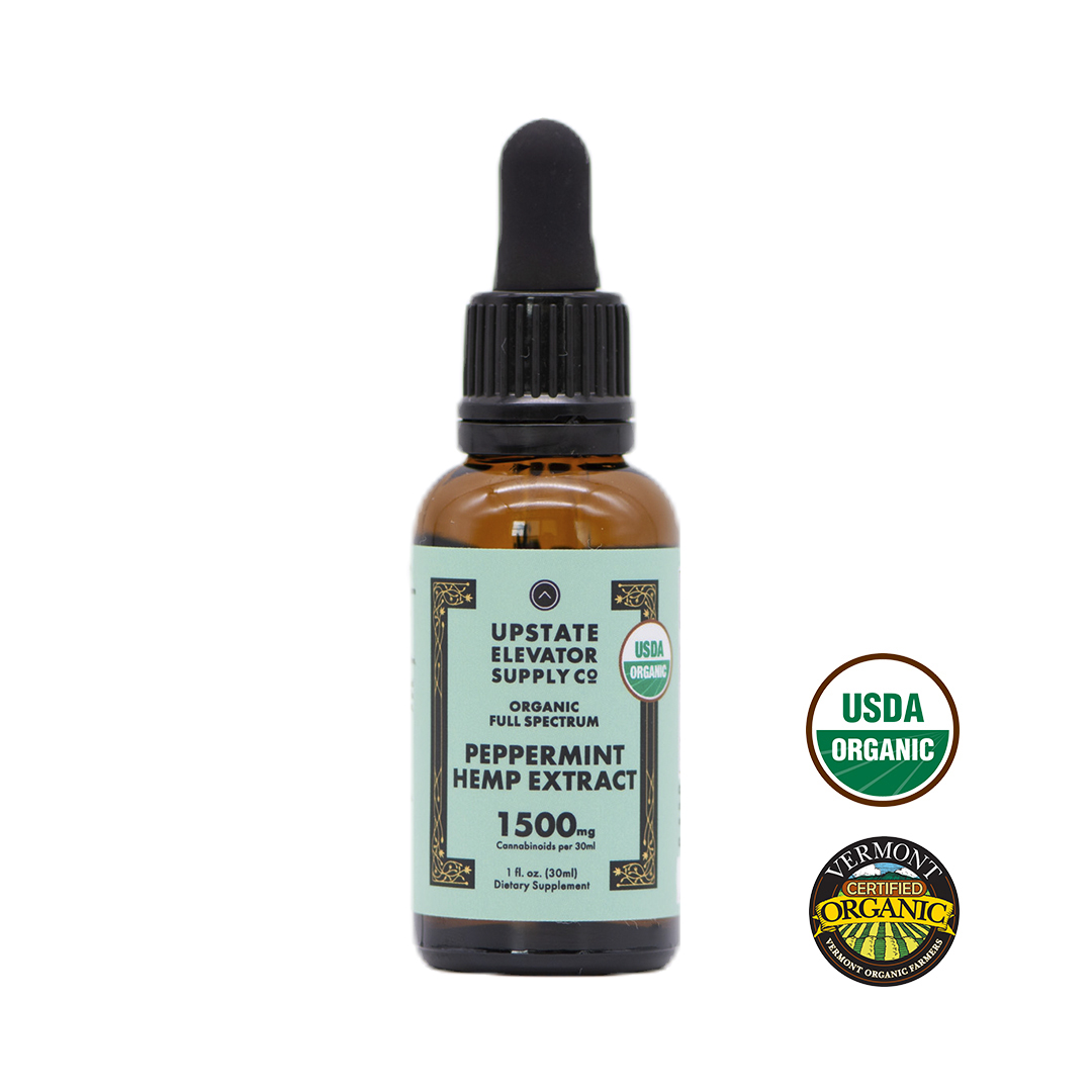Organic Peppermint Hemp Extract, 1500mg